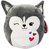 "Valentines Squishmallow 8"" Heidi The Husky Dog Plush Pillow Stuffed Animal Puppy Gray"