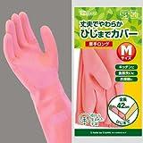 ダンロップ 天然ゴム手袋 厚手 ロング M ピンク