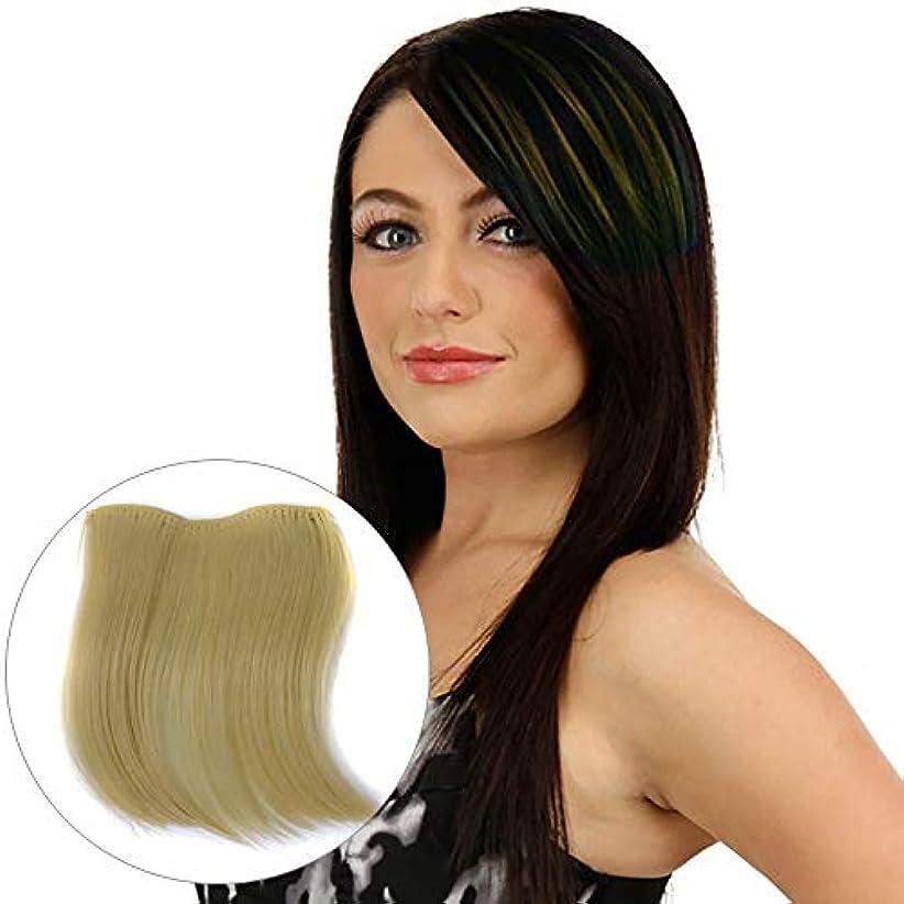 圧縮話をするリンケージWTYD 美容ヘアツール カラーグラデーション見えないシームレスヘアエクステンションウィッグピースストレートヘアピースカラーバンズヘアピース (色 : Beige)
