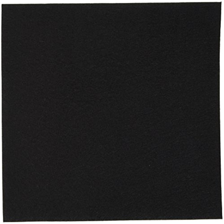KIYOHARA Kフェルト ポリエステル100% 粘着シール付き 5枚入 横18cm×縦18cm #112 黒 KT1002