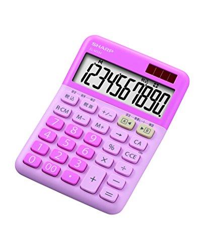 シャープ カラー電卓 ミニナイスサイズ ピンク系 EL-M334-PX