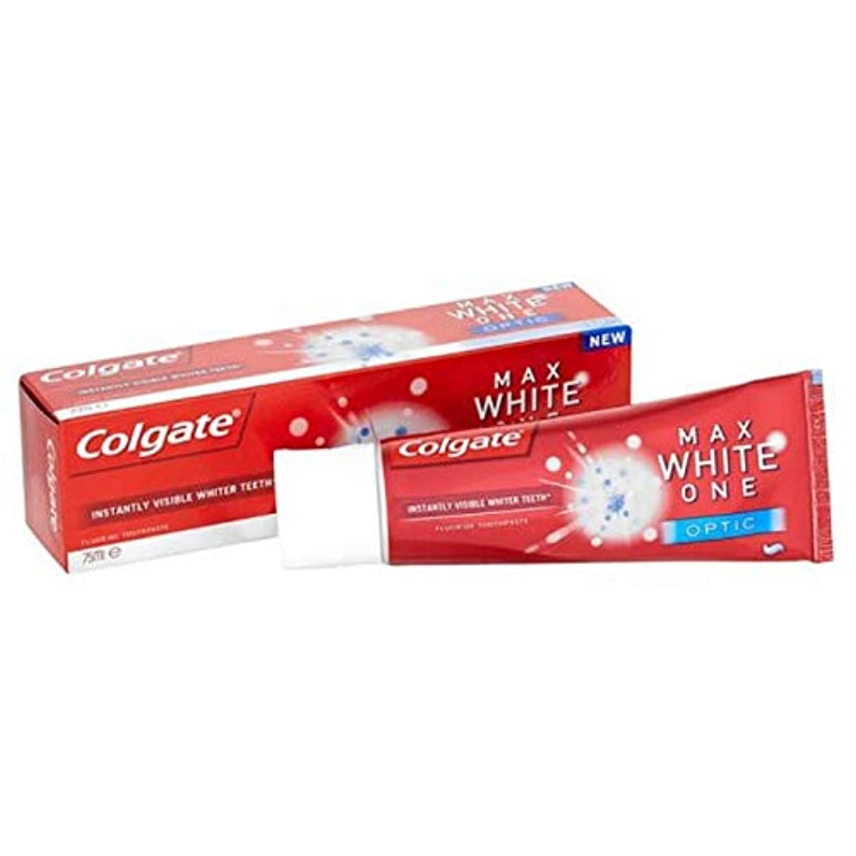 [Colgate ] コルゲート最大白1つの光学歯磨き粉25ミリリットル - Colgate Max White One Optic Toothpaste 25ml [並行輸入品]