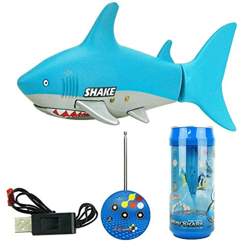 リモートコントロールRCサメ電子玩具魚海洋動物モデル子供のためのミニラジオボート幼児27 / 40Mhz