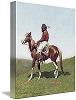 """壁アート印刷entitled Comanche Brave、Fort Reno Frederic Remington by the FineアートMasters 16"""" x 19"""" 4467478_3_can"""