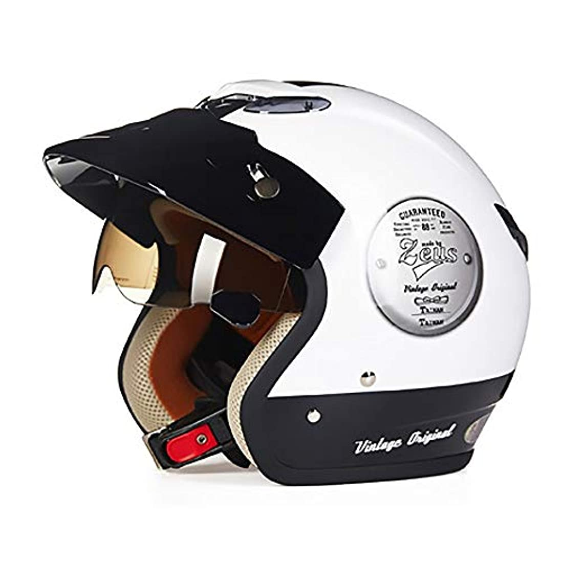 コピー動機ケントQRY 電気自動車のオートバイのヘルメットの自転車のマウンテンバイクのヘルメットの屋外の乗馬装置に乗っている明るい白黒のABS大人の自転車のヘルメット 幸せな生活 (Size : XL)