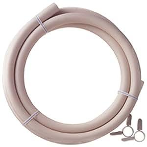 ダンロップ 都市ガス用新ガスソフトコード(内径9.5mm) ホースバンド付き 2m 3376