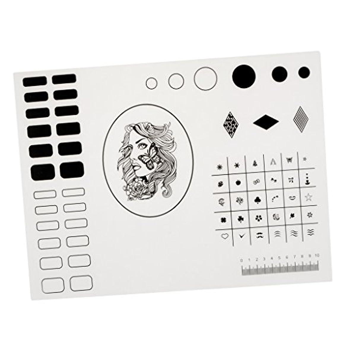 オート図発行するFenteer シリコーン ネイルマット ネイルアート マニキュア ネイルステッカー 繰り返す可 初心者 40.5*30.5cm 2タイプ選べ - タイプ2