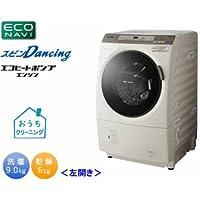 パナソニック 9.0kg ドラム式洗濯乾燥機【左開き】(ノーブルシャンパン)Panasonic エコナビ スピンDancing NA-VX5100L-N