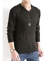 (オークランド) Oakland ケーブル編み ニット セーター ニットソー 起毛 春 オーセンティック カジュアル モード メンズ