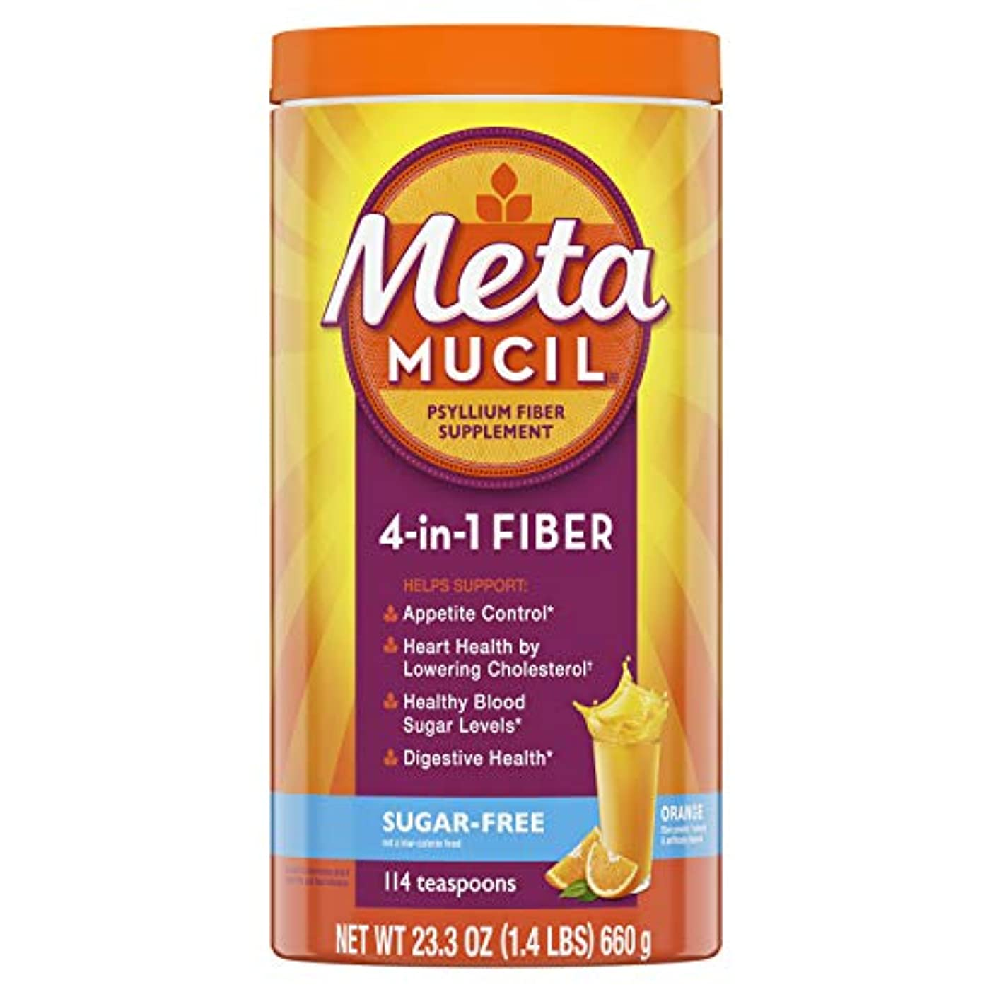 ふりをするやけど再発するMetamucil  メタムシル オオバコ繊維 シュガーフリー サプリメント 660g  並行輸入品