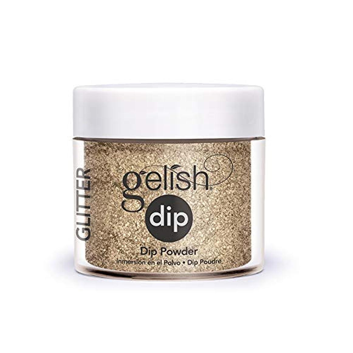 ゴムタイムリーなに賛成Harmony Gelish - Acrylic Dip Powder - Glitter & Gold - 23g / 0.8oz