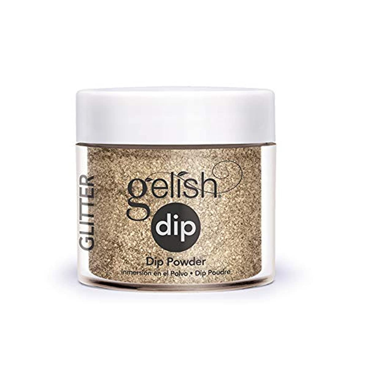 落ちた彼のあいまいHarmony Gelish - Acrylic Dip Powder - Glitter & Gold - 23g / 0.8oz