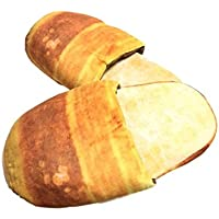 Sweet 大人用 スリッパ リアルなパン模様 ふかふか おもしろ生活雑貨 プレゼント ギフト フランスパン コッペパン (コッペパン)