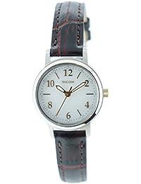 [リコー]RICOH 腕時計 モンペリエ・エミット ソーラー充電式 3気圧防水 レザーベルト ブラウン RSL10202レディース