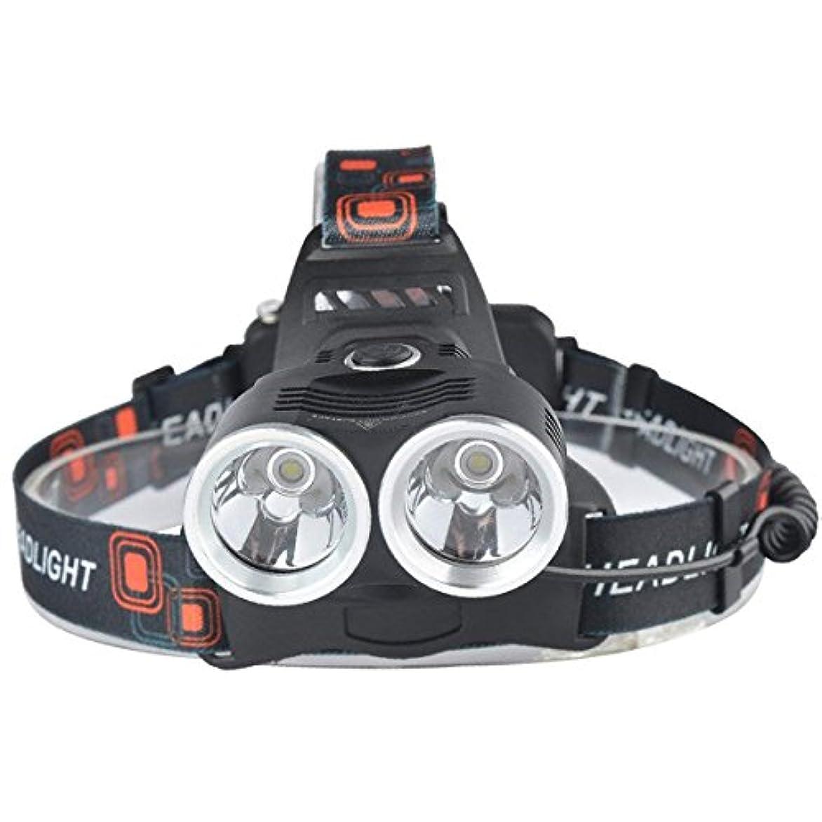 第四ホイップ致命的なNanle LEDアルミ合金ヘッドランプ2 xクリーXM-T6トーチヘッドライト1000ルーメン3モードスーパーT6キャンプバイク用(充電器+車の充電器を含む)
