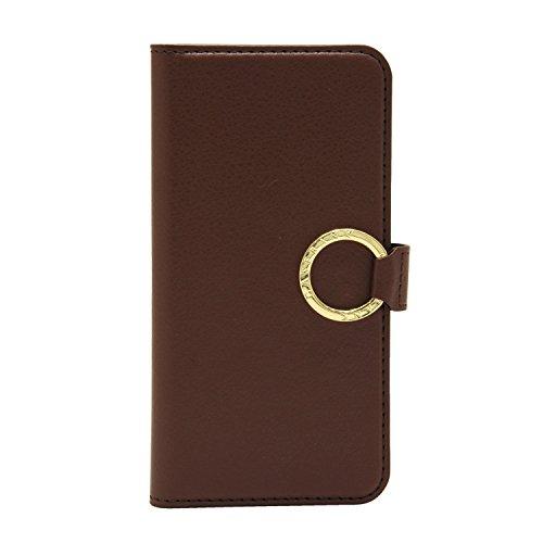 [CASEBANK] リング付き 手帳 ケース iPhone6/6s 4.7インチ 落下防止 実用新案取得済 スマホ カバー (ブラウン) RING-01-Brown