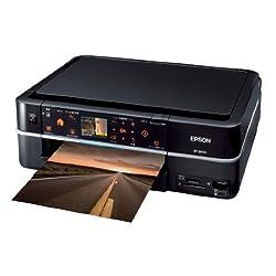 EPSON Colorioインクジェット複合機 EP-803A 有線・無線LAN標準搭載 カンタンLEDナビ搭載 前面二段給紙カセット 6色染料インク ブラックモデル