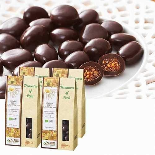 ペルーゴールデンベリー チョコレート 4箱セット【ペルー 海外土産 輸入食品 スイーツ】