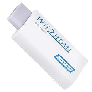 Ecandy Wii HDMIコンバーター 720p 1080pに変換可能 ホワイト