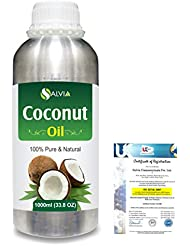Coconut (Cocos nucifera) Natural Pure Undiluted Uncut Carrier Oil 1000ml/33.8 fl.oz.