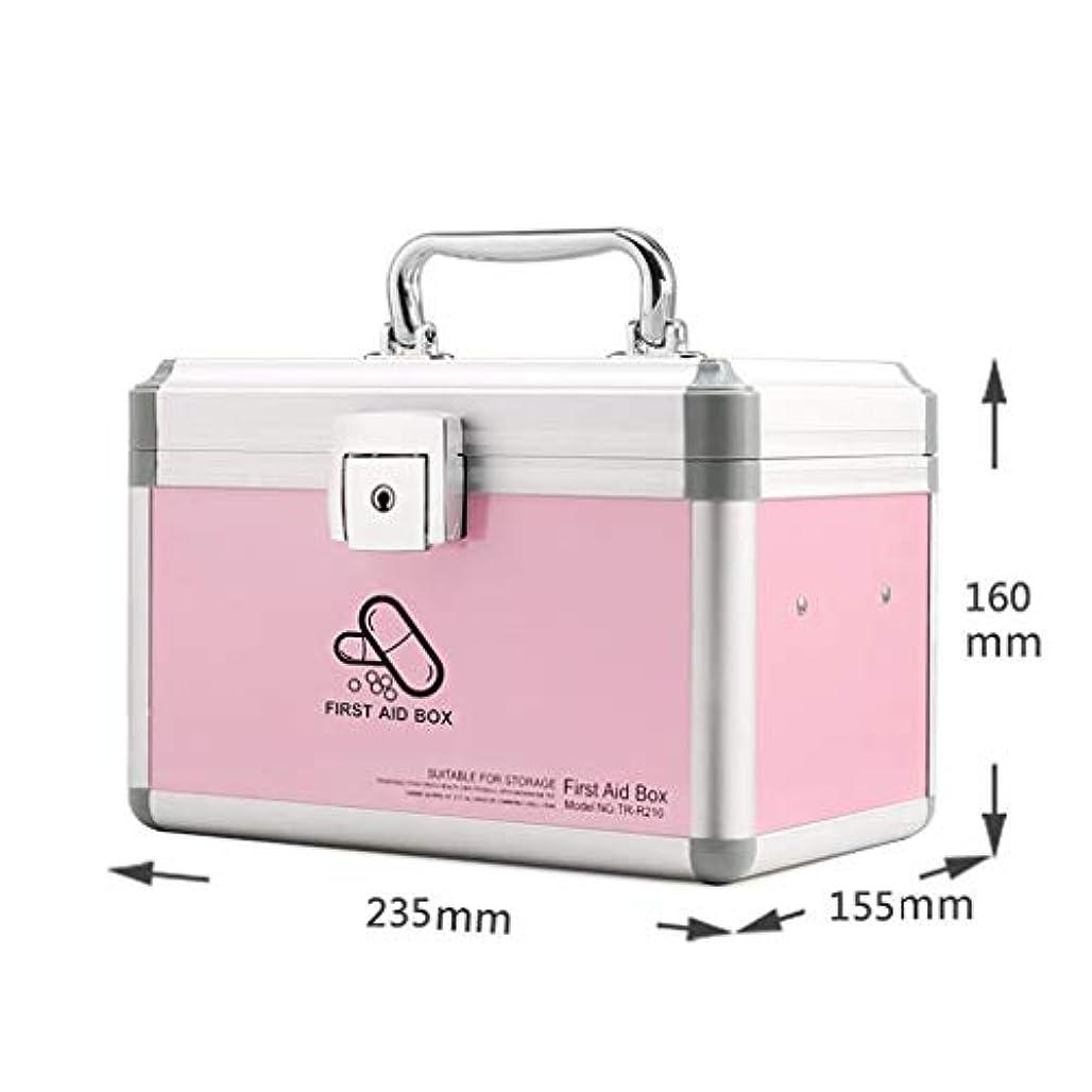 家庭用薬箱携帯用薬箱サイズ救急薬箱 LIUXIN (Color : Pink, Size : 23.5cm×15.5cm×16cm)