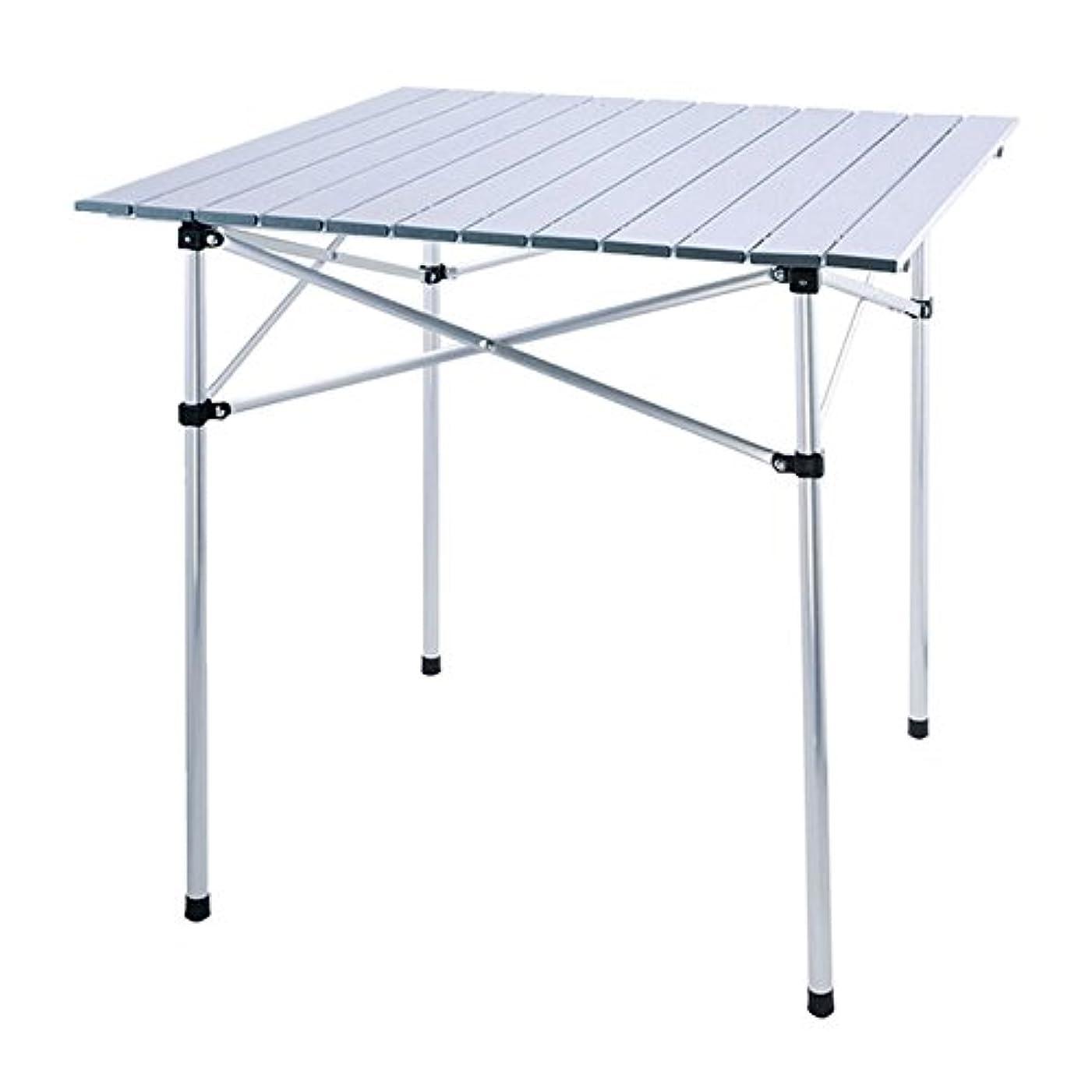 顎孤独セーターロールテーブル 折り畳み式 アルミ製 70cmx70cmx70cm 2.78kg ロール式天板 収納袋付き [並行輸入品]