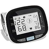 Aljubeiha Wrist Automatic Blood Pressure Monitor Intelligent Digital Heart Rate Monitor for Home and Travel Use