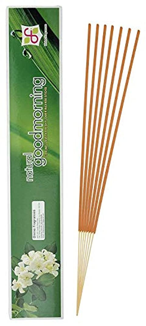 拡散する長々と物質Divine Fragrances - Natural Good Morning - Incense Stick - Pack of 120 Sticks