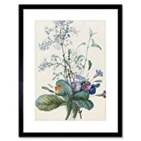 Painting Redoute French Bouquet Flowers Insects Art Framed Wall Art Print