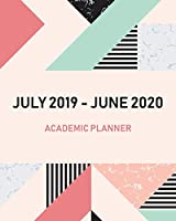 July 2019-June 2020 Academic Planner: Academic calendar monthly weekly and day planner appointment book and schedule organizer 2019-2020, marble cover (July 2019 - June 2020 Academic calendar)
