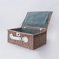 収納ボックス ストレージボックス、籐ピクニックバスケットスナックボックスと籐北欧創造的なシンプルなストレージバスケット仕上げボックスレトロスタイル 収納ボックス (色 : B)
