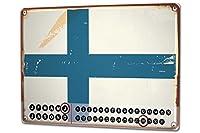 カレンダー Perpetual Calendar Adventurer Finland Tin Metal Magnetic