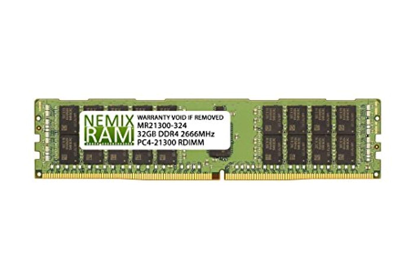 干ばつ試してみるラッチNEMIX RAM 32GB DDR4-2666 2Rx4 RDIMM Intel R1304WT2GSR用