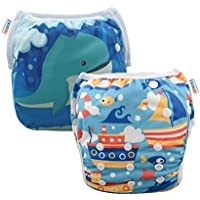 ALVABABY Swim Nappies Diapers Boys Reuseable Adjustable One Size 2pcs Baby Gifts SWD36-41-AU