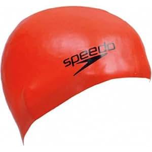 Speedo(スピード) シリコーンキャップ SD97C03 レッド RE F