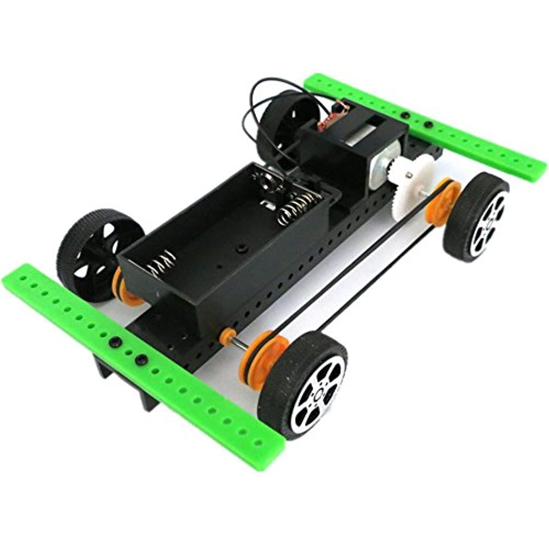(A) - FIRERO 1 Set Mini Powered Toy DIY Car Kit Children Educational Gadget Hobby Funny (A)