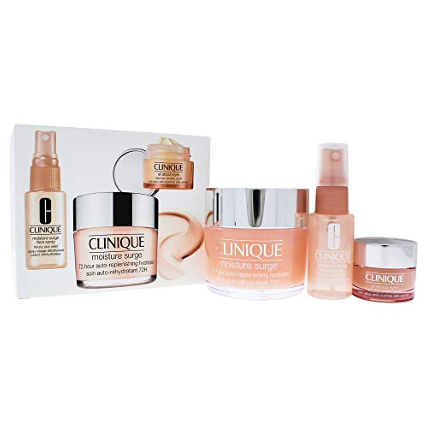 クモ身元さわやかクリニーク Moisture Surge Set: Moisture Surge 72-Hr 125ml+ All About Eyes 15ml + Moisture Surge Face Spray Thir 3pcs...