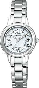 [シチズン]CITIZEN 腕時計 wicca ウィッカ 【有村架純コラボモデル-Kasumi Arimura Collaboration Model-】 HAPPY DIARY コラボレーション 白蝶貝文字板 ソーラーテック電波時計 KL0-014-97 レディース