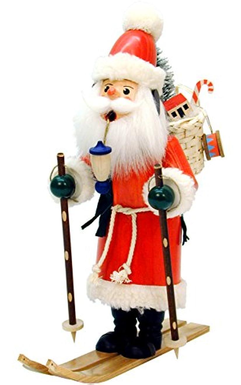 違う変換する浮くChristian Ulbricht Incense Burner - Santa On Skis - 11.5