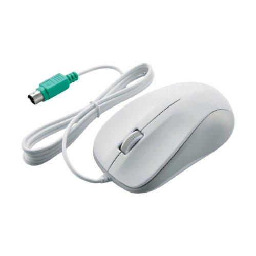 エレコム 有線マウス PS/2 ホワイト 光学式/3ボタン ROHS指令準拠 M-K6P2RWH RS