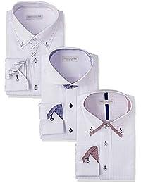 [ドレスコード101] ワイシャツ 長袖3枚セット (シーンで選べる6パターン 形態安定生地) SHIRT-Z3SET1 メンズ