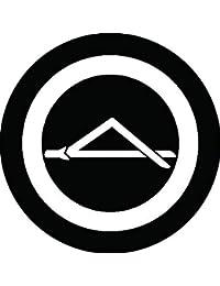 家紋シール 丸に一つ折れ松葉紋 布タイプ 直径40mm 6枚セット NS4-0421