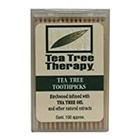 Tea Tree Therapy Tea Tree Therapy Toothpicks, 100 ct (Pack of 2) by Tea Tree Therapy