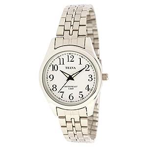 [クレファー]CREPHA 腕時計 アナログ ブレスレット 5気圧 防水 シルバー ホワイト TE-AL025-WTS レディース