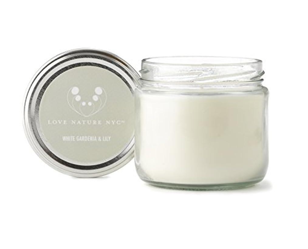 歯痛促す溢れんばかりの自然Soy Candle Jar、クリーン燃焼非毒性、完璧クリスマスや休日ギフト、Love Nature NYC 60 Hours Jar グレー