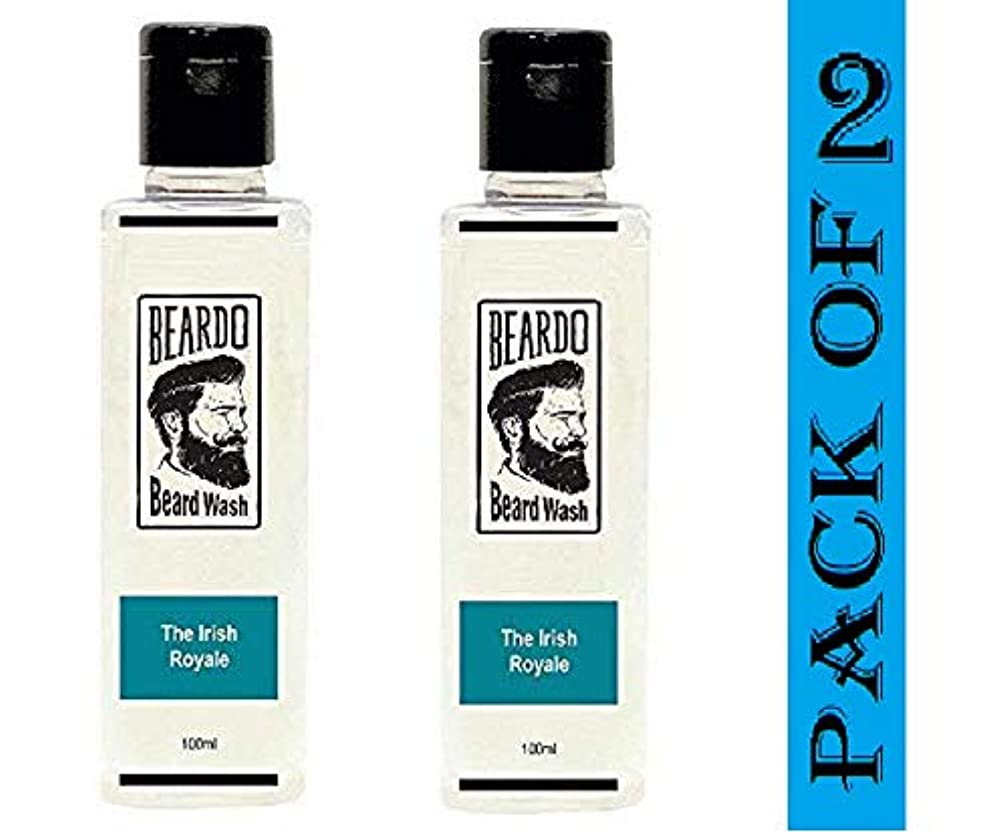 とんでもない解放する眠るBeardo Beard Wash (The Irish Royale) - 100ml With Natural Ingredients - Nutmeg, Clove and Lime (Pack OF 2)