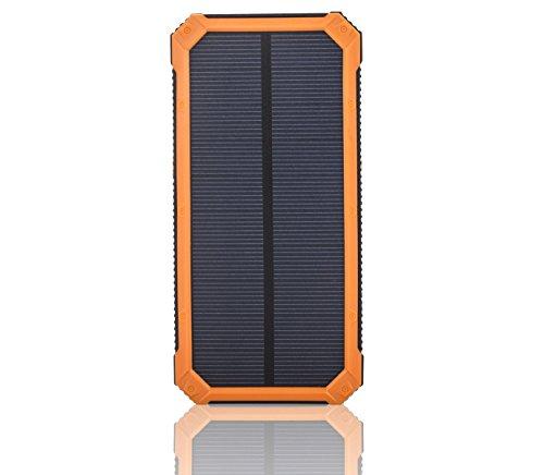 SOMAN 15000mAh 超大容量モバイルバッテリー、ソーラーパネル 頑...