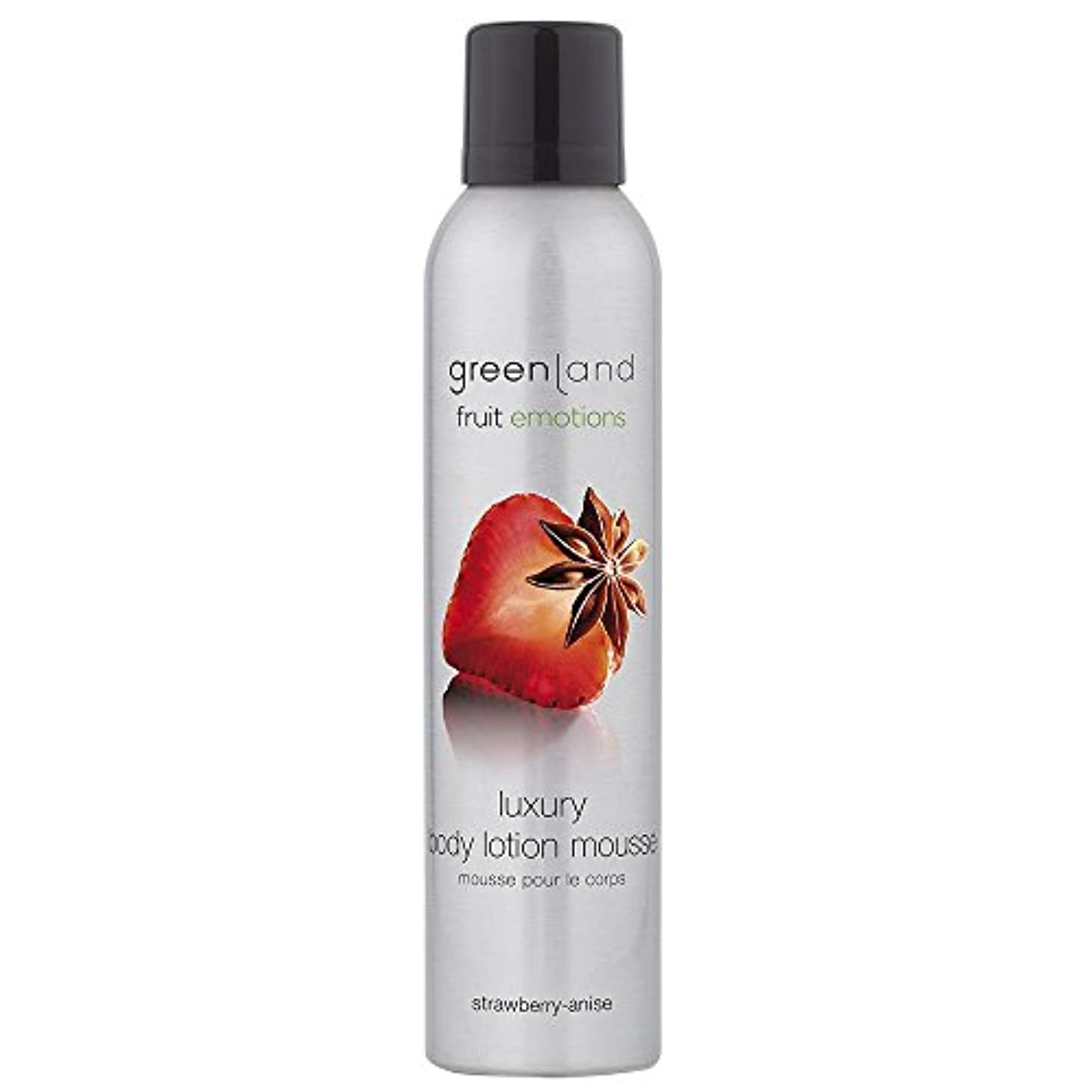 腸ネーピア眠りgreenland [FruitEmotions] ボディローションムース 200ml ストロベリー&アニス FE0287