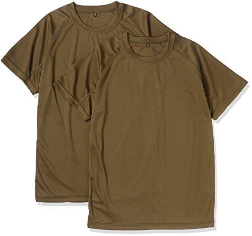 (ジェイジィエスディエフ)J.G.S.D.F クールナイス  半袖Tシャツ(2枚組)(吸水・速乾)【自衛隊衣料】6525 652501 750 オリーブグリーン L