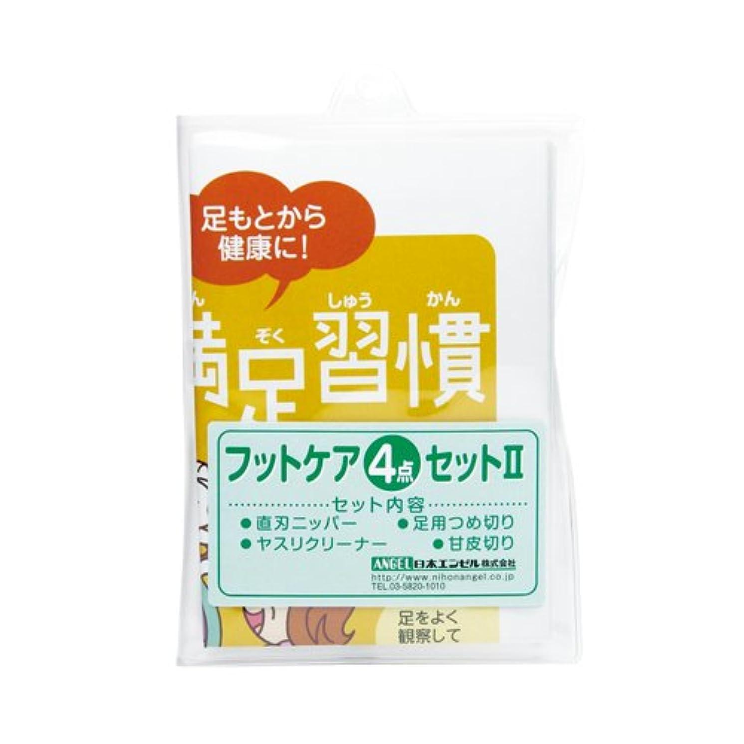 パン提供されたメタリックフットケア4点セット2 [爪きり衛生用品]